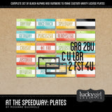 At the Speedway Plates Digital Scrapbook Kit by Lucky Girl Creative