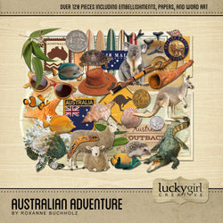 Australian Adventure Digital Scrapbook Kit by Lucky Girl Creative