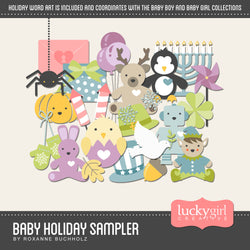 Baby Holiday Sampler Digital Scrapbook Kit by Lucky Girl Creative