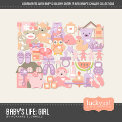 Baby Girl Digital Scrapbook Kit by Lucky Girl Creative