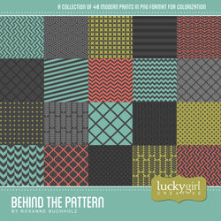 Behind the Pattern Digital Scrapbook Kit by Lucky Girl Creative