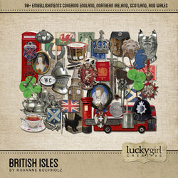British Isles Digital Scrapbook Kit by Lucky Girl Creative
