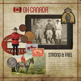 Vintage Canadiana 2 Digital Scrapbook Kit by Lucky Girl Creative