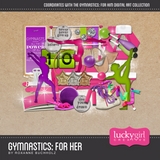Gymnastics for Her Digital Scrapbook Kit by Lucky Girl Creative