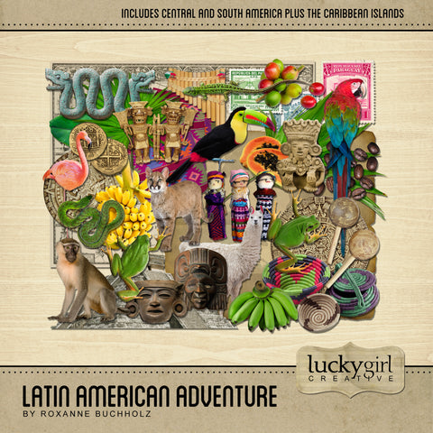 Latin American Adventure Digital Scrapbook Kit by Lucky Girl Creative
