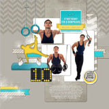 Gymnastics for Him Digital Scrapbook Kit by Lucky Girl Creative