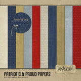 Patriotic and Proud Papers Digital Scrapbook Kit by Lucky Girl Creative