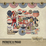Patriotic and Proud Digital Scrapbook Kit by Lucky Girl Creative