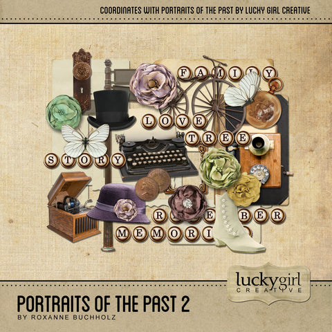 Portraits of the Past 2 Digital Scrapbook Kit by Lucky Girl Creative