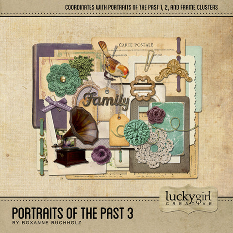 Portraits of the Past 3 Digital Scrapbook Kit by Lucky Girl Creative