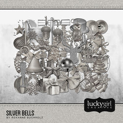 Silver Bells Digital Scrapbook Kit by Lucky Girl Creative