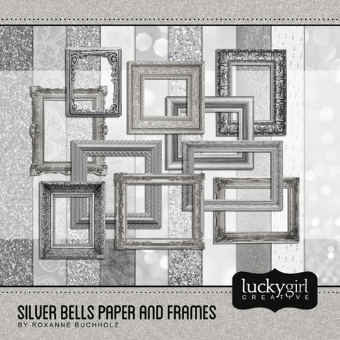 Silver Bells Paper and Frames
