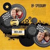 At the Speedway Digital Scrapbook Kit by Lucky Girl Creative
