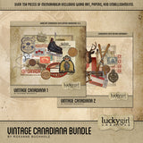 Vintage Canadiana Discounted Bundle Digital Scrapbook Kit by Lucky Girl Creative