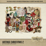 Vintage Christmas 2 Digital Scrapbook Kit by Lucky Girl Creative