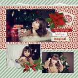 Vintage Christmas Extras Digital Scrapbook Kit by Lucky Girl Creative