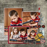 Vintage Trains 1 Digital Scrapbook Kit by Lucky Girl Creative
