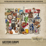 Western Europe Digital Scrapbook Kit by Lucky Girl Creative