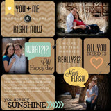 Black and Tan Digital Scrapbook Kit by Lucky Girl Creative