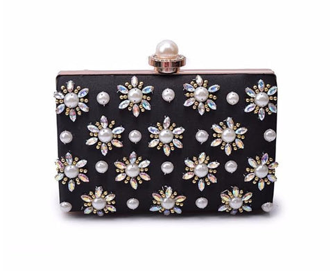 Black Forla Pearl Clutch Bag