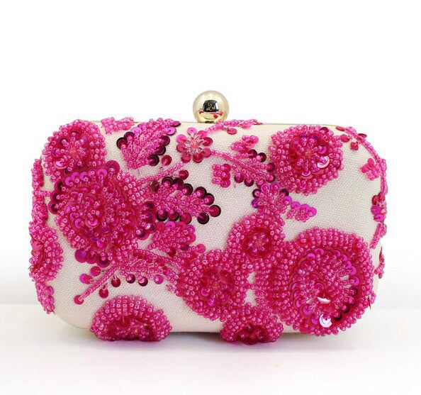 The Florence Begonia Clutch