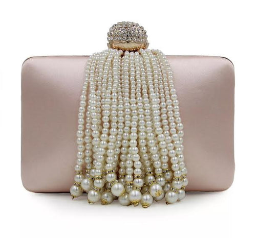 Pearl Blush Evening Clutch