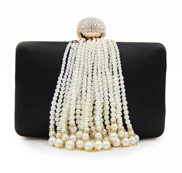 Pearl Black Evening Clutch
