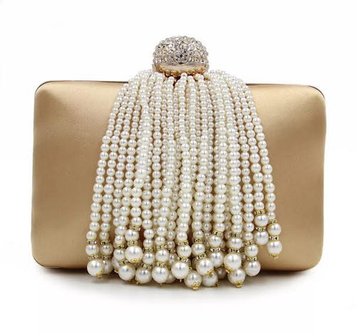 Pearl Gold Evening Clutch