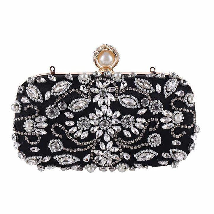 The Classic Black Lauren Evening Clutch
