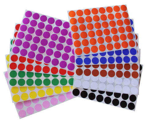 Dot stickers 11/16 inch Combo colors 17mmm
