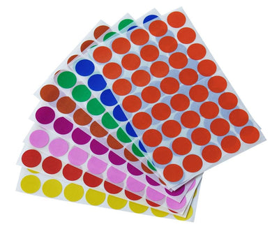 Dot stickers 3/4 inch Combo colors 19mm