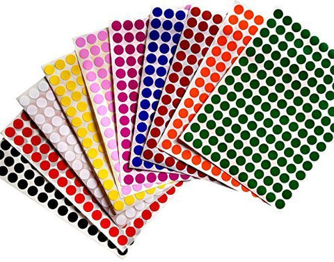 Dot stickers 3/8 inch Combo colors 10mm