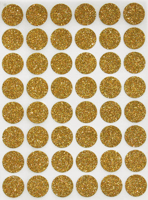"Dot Stickers 11/16"" inch Glitter Colors 17mm"