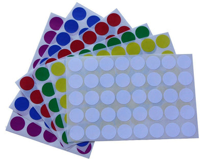 Round Dot Color Coding 19mm Stickers