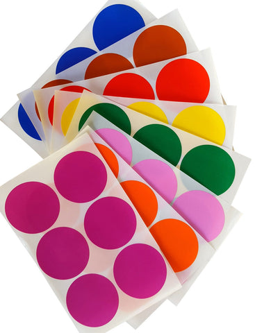 Dot stickers 2 inch Combo colors 50mm
