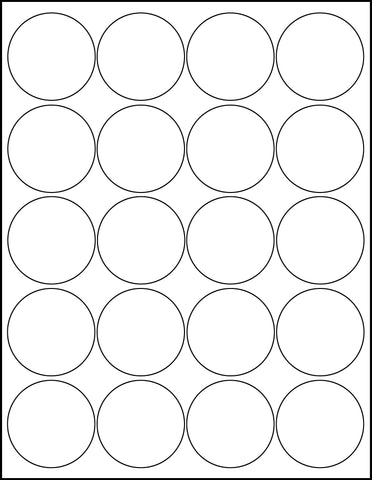 Round Sticker Sheets 2 Inch White Printable Labels