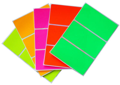 Rectangular stickers 4 x 2 inch Combo colors 102mm x 51mm