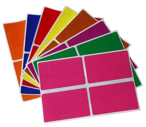 Rectangular stickers 3 x 2 inch Combo colors 7.5 cm x 5 cm