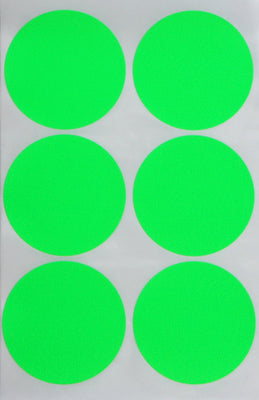 Dot stickers 2 inch Neon colors 50mm
