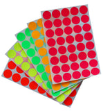 Round Labels 19mm Neon Color Stickers