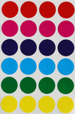 Colorful Dots 1 Inch Round Stickers