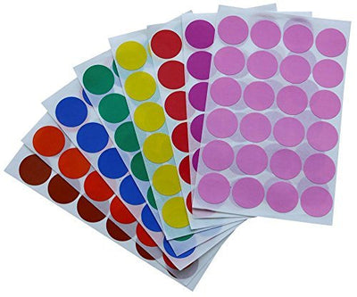 Dot stickers 1 inch Combo colors 25mm