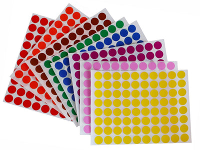 Round Dot Stickers in color combinations