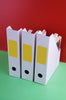 Rectangular stickers 4 x 2 inch Neon colors 102mm x 51mm