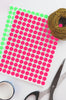 Dot stickers 3/8 inch Neon colors 10mm