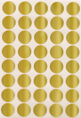 Dot stickers 3/4 inch Metallic colors 19mm
