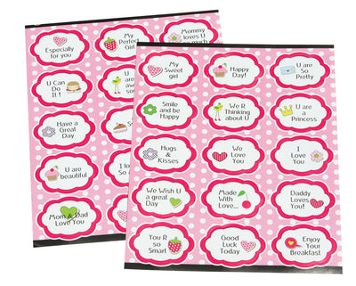 Stickers For Girls Motivational Labels For Kids - 30 Pack
