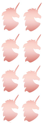 Unicorn Metallic Stickers 2 Inch For Arts And Crafts