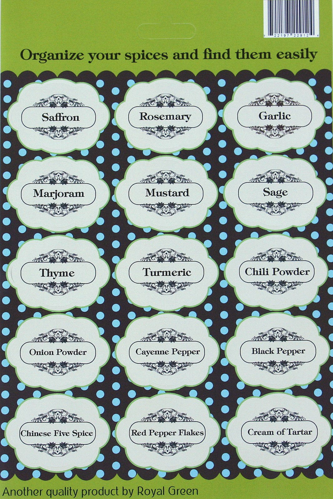 cloud spice stickers jars decorative labels royal green market