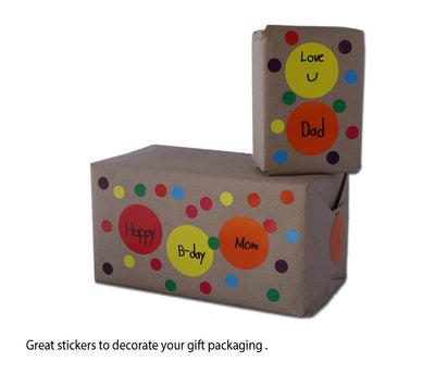 Dot stickers 1/4 Inch Metallic colors 8mm